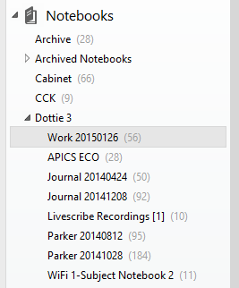 Livescribe Notebooks in Evernote